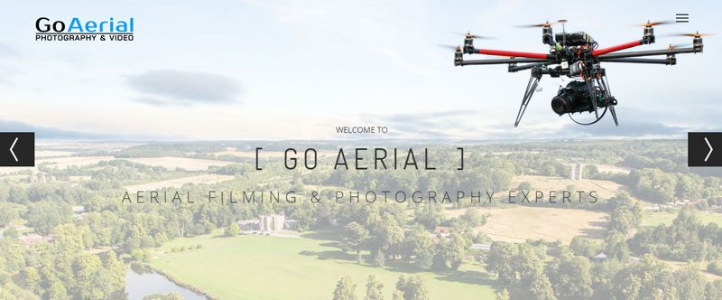banner image of drone with aerial image in background