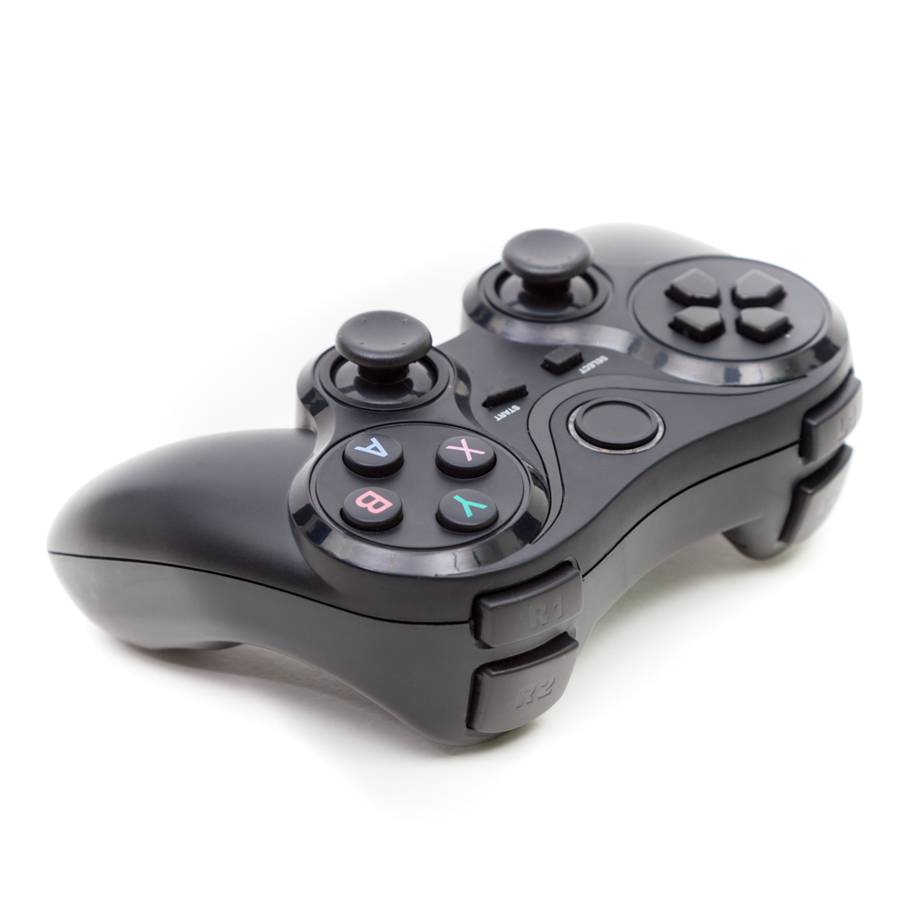 games controller on a total white background